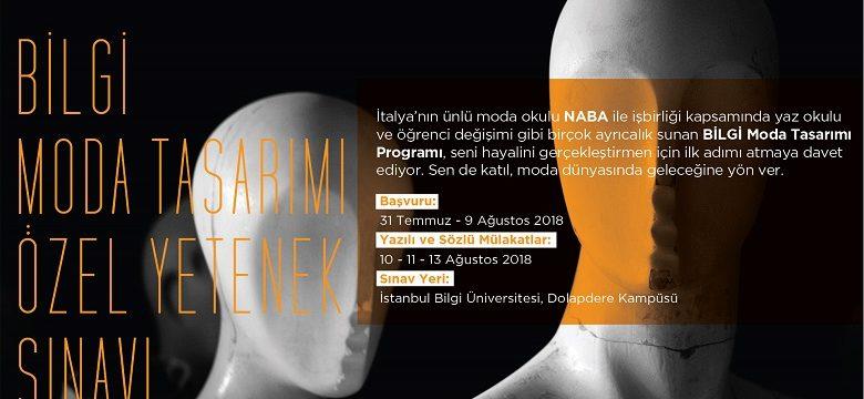 İstanbul Bilgi Üniversitesi Moda Tasarımı Bölümü başvuruları