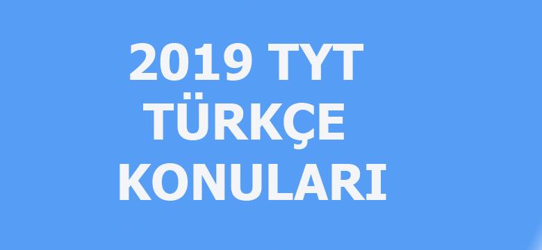 2019 TYT Türkçe konuları