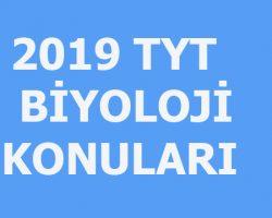 2019 TYT Biyoloji konuları