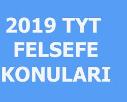 2019 TYT Felsefe konuları