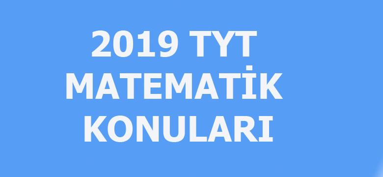 2019 TYT matematik konuları